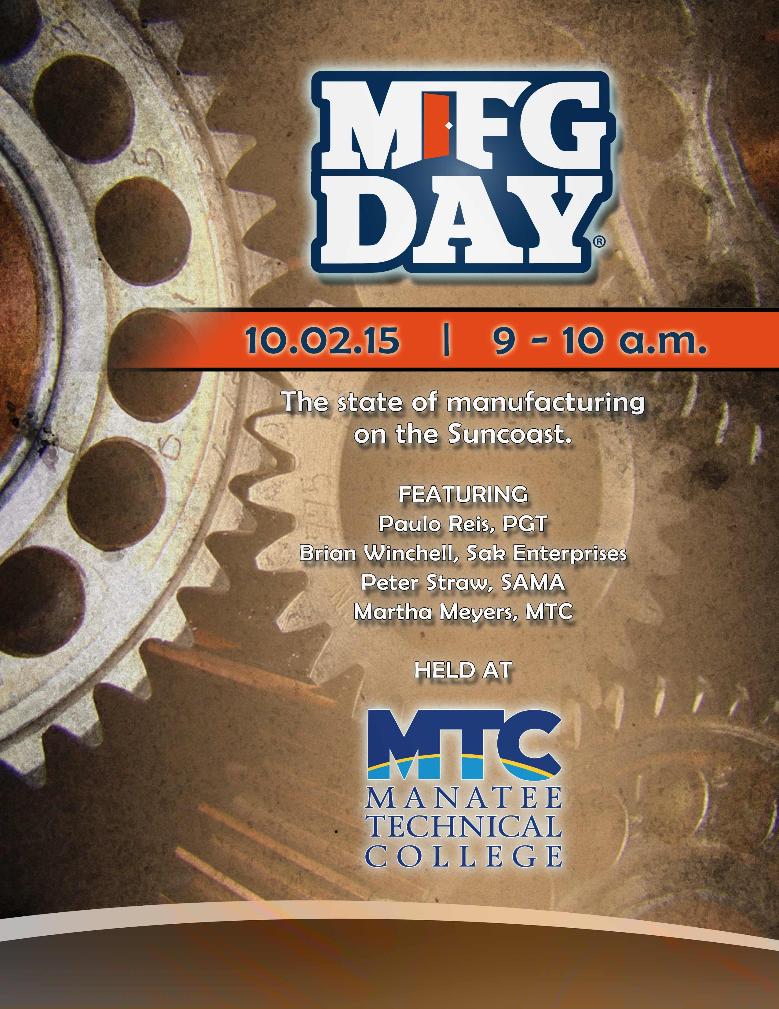 Guest speakers to give voice to Manufacturing Day at MTC