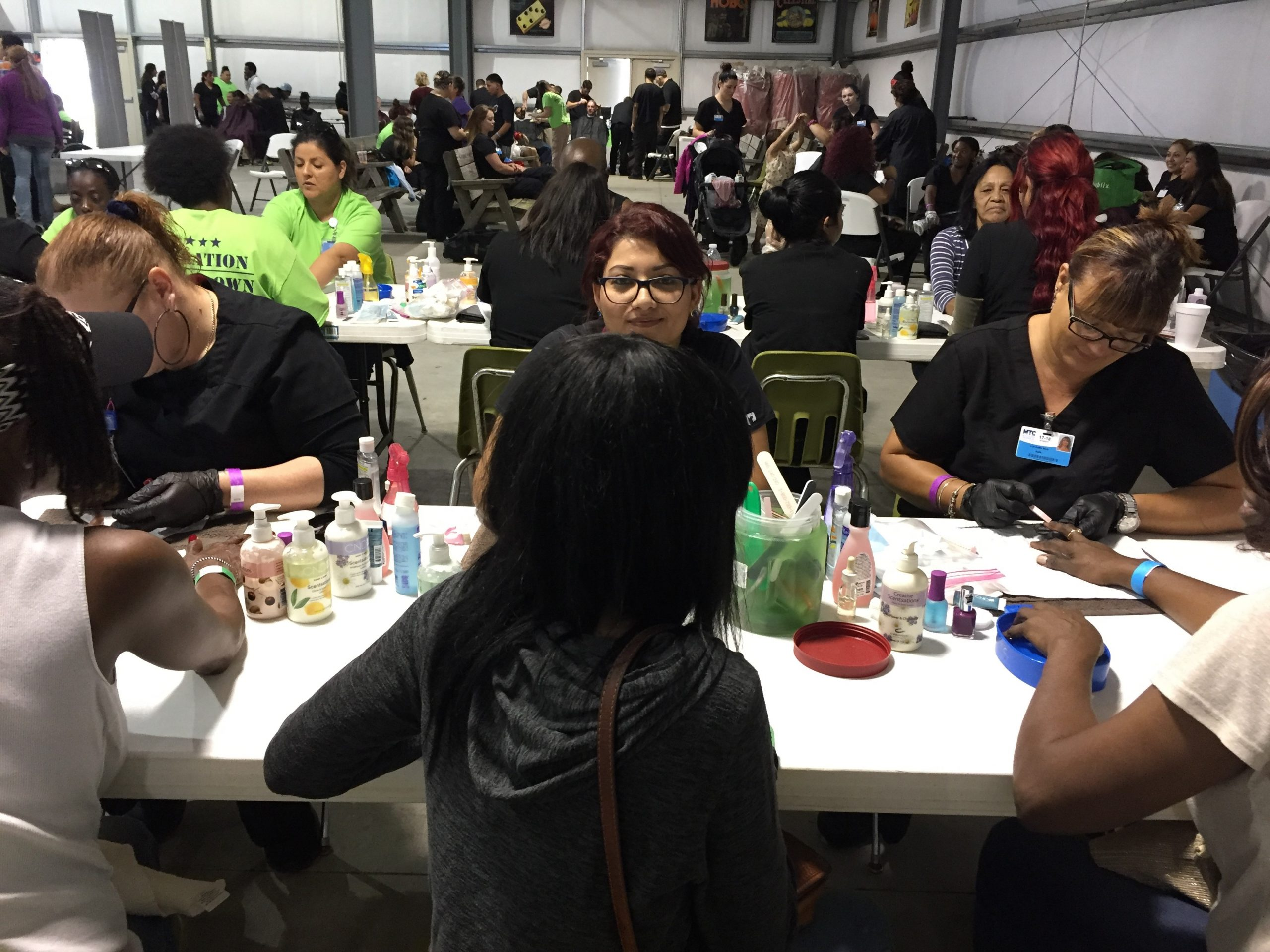 MTC Nail Tech and Cosmo students help at Stand Down