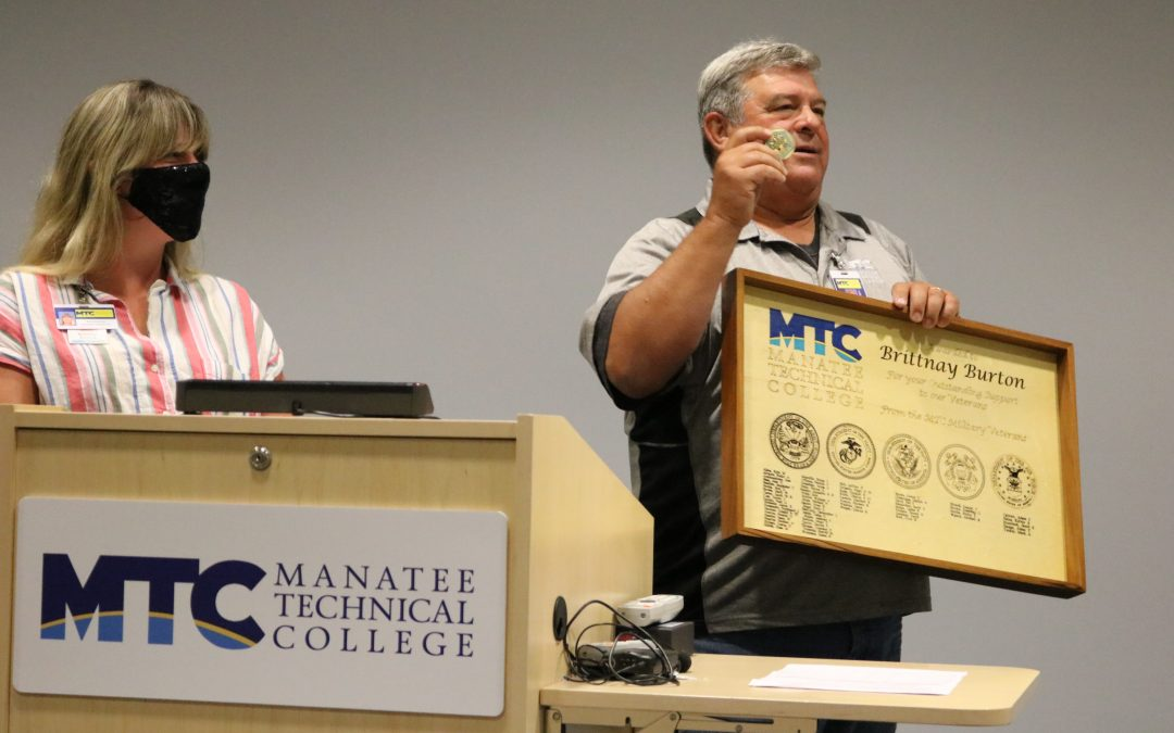 Ret. Col. & MTC student honors specialist who helps Veterans