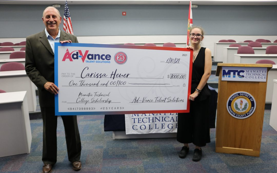 Two HS students awarded Ad-VANCE scholarships to MTC
